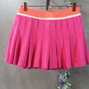 Nike Tennis Skort NWT Pink/Orange SZ M